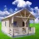 Casa de lemn Rebeca 6,8x4m